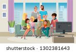 tree generations of big family... | Shutterstock .eps vector #1302381643
