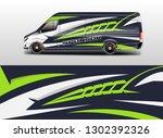 car decal van designs . wrap... | Shutterstock .eps vector #1302392326