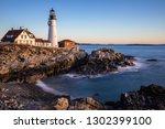 a long exposure photograph of... | Shutterstock . vector #1302399100
