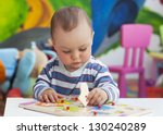 small toddler or a baby child... | Shutterstock . vector #130240289