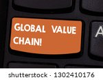 text sign showing global value...   Shutterstock . vector #1302410176