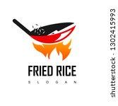 fried rice restaurant logo | Shutterstock .eps vector #1302415993