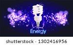eco energy saving light bulb ... | Shutterstock .eps vector #1302416956