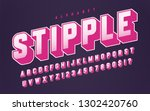 colorful halftone styled vector ... | Shutterstock .eps vector #1302420760