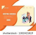 we're hiring illustration... | Shutterstock .eps vector #1302421819