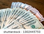 twenty  fifty and hundred... | Shutterstock . vector #1302445753