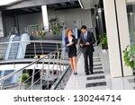 confident business partners... | Shutterstock . vector #130244714