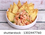 popular thai recipe pad thai...   Shutterstock . vector #1302447760