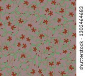 seamless floral pattern with... | Shutterstock .eps vector #1302464683