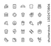 food  fast food  junk food ... | Shutterstock .eps vector #1302473806