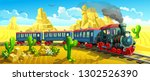 locomotive in the wild west.... | Shutterstock .eps vector #1302526390