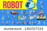 robot helper set vector. future ... | Shutterstock .eps vector #1302527233