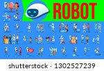 robot helper set vector. future ... | Shutterstock .eps vector #1302527239
