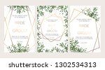 elegant wedding floral... | Shutterstock .eps vector #1302534313