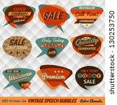 vintage style speech bubbles... | Shutterstock .eps vector #130253750