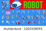 robot helper set. future... | Shutterstock . vector #1302538093