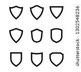 shield icon design template...   Shutterstock .eps vector #1302548236
