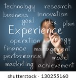 business man writing experience ... | Shutterstock . vector #130255160