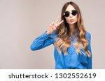 portrait of beautiful woman... | Shutterstock . vector #1302552619