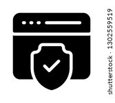 web page protection glyph icon