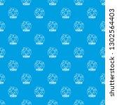 drum kit pattern seamless blue...   Shutterstock . vector #1302564403