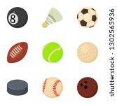 dribble icons set. cartoon set... | Shutterstock . vector #1302565936