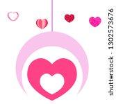 valentine's day  heart ... | Shutterstock .eps vector #1302573676