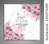 wedding invitation. beautiful... | Shutterstock .eps vector #1302576289