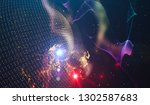 abstract space background  ... | Shutterstock . vector #1302587683