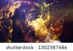 abstract space background  ... | Shutterstock . vector #1302587686