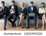 diverse businesspeople... | Shutterstock . vector #1302594520