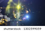abstract space background  ... | Shutterstock . vector #1302599059