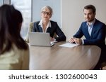 interested hr managers focused... | Shutterstock . vector #1302600043