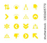 16 down icons with dislike and...   Shutterstock .eps vector #1302605773