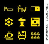 9 room icons with controls and... | Shutterstock .eps vector #1302607813