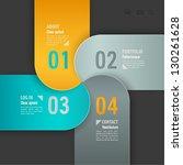 web template. vector... | Shutterstock .eps vector #130261628