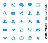 web internet media icons set ...   Shutterstock .eps vector #1302616333
