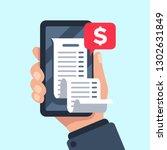smartphone receipt bill.... | Shutterstock .eps vector #1302631849
