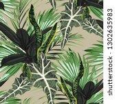 beautiful seamless floral...   Shutterstock .eps vector #1302635983