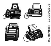 fax icons set. simple set of... | Shutterstock .eps vector #1302643906
