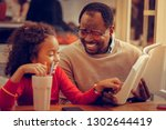 book for daughter. father... | Shutterstock . vector #1302644419