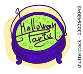 halloween party green potion... | Shutterstock .eps vector #1302648043