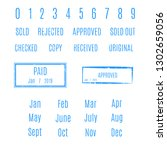 blank rectangular stamp with a... | Shutterstock . vector #1302659056