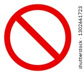 stop sign icon symbol. no sign  ... | Shutterstock .eps vector #1302661723