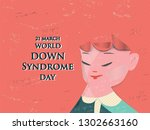 world down syndrome day. ... | Shutterstock .eps vector #1302663160