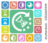 clocks and time icons set.... | Shutterstock .eps vector #1302665449