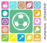 sports icons set.illustration... | Shutterstock .eps vector #1302665920
