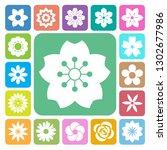 set of flower icons... | Shutterstock .eps vector #1302677986