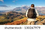 fell walking on catbells... | Shutterstock . vector #130267979