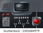 control panel with display ...   Shutterstock .eps vector #1302684979